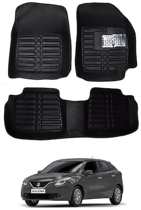 AYW 5D Mat Car For Baleno Black Color