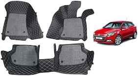 AYW 7D car mats for Elite i20 Black Color