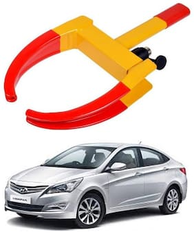 AYW Car Tyre Wheel Lock Anti Theft Towing Wheel Clamp Boot for Fluidic Verna