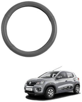 AYW Leather Steering Cover For Renault Kwid Grey Color