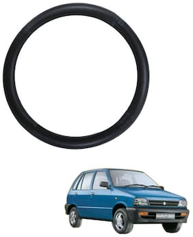 AYW Leather Steering Cover For Maruti Suzuki 800 Black Color