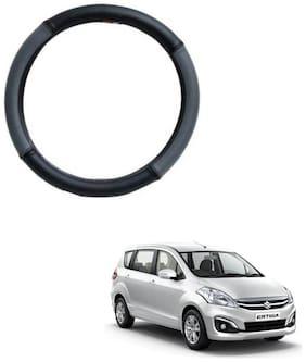 AYW Leather Steering Cover For Maruti Suzuki Ertiga Grey & Black Color