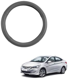 AYW Leather Steering Cover For Hyundai Verna Fluidic Grey Color