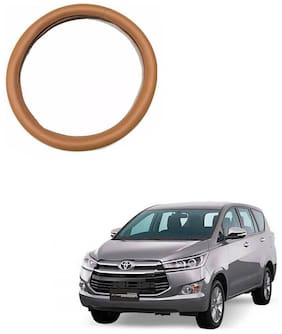 AYW Leather Steering Cover For Toyota Innova Crysta Tan Color