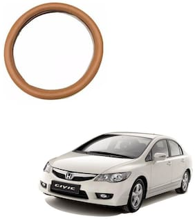 AYW Leather Steering Cover For Honda Civic Tan Color