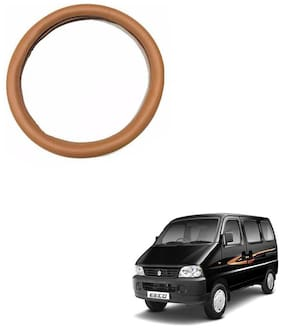 AYW Leather Steering Cover For Maruti Suzuki Eeco Tan Color