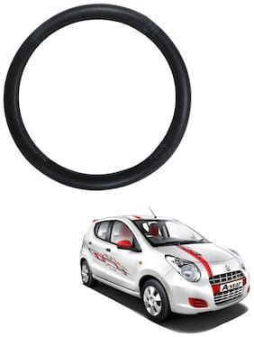 AYW Leather Steering Cover For Maruti Suzuki A-Star Black Color