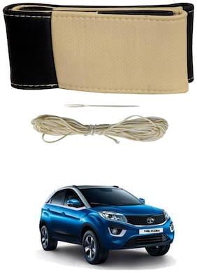 AYW Steering Cover For Nexon Black&Beige