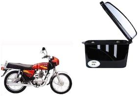 Bajaj 4S Champion Dua Trendy Black Silver Side Box Extra Luggage Box