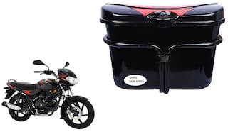 Bajaj Discover 100 Vivo Black Red Side Box Extra Luggage Box to Cary Extra Luggage for Bikes