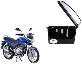 Bajaj Discover 100 DTSi Dua Trendy Black Silver Side Box Extra Luggage Box