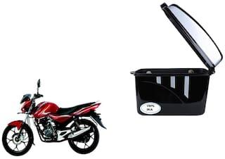 Bajaj Discover 125T Disc Dua Trendy Black Silver Side Box Extra Luggage Box
