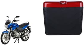 Bajaj Discover 135 Dua Polo Matt Black Red Side Box Extra Luggage Box