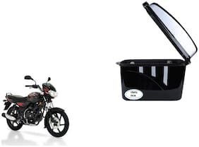 Bajaj Discover 125 DTSi Dua Trendy Black Silver Side Box Extra Luggage Box