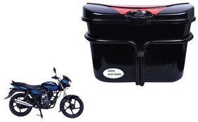 Bajaj Discover 125 Drum Vivo Black Red Side Box Extra Luggage Box to Cary Extra Luggage for Bikes