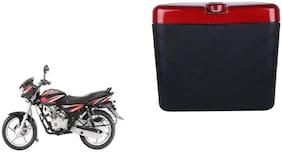 Bajaj Discover 125 Dua Polo Matt Black Red Side Box Extra Luggage Box