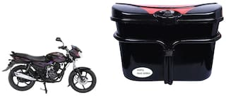 Bajaj Discover Vivo Black Red Side Box Extra Luggage Box to Cary Extra Luggage for Bikes