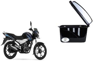 Bajaj Discover 100T Drum Dua Trendy Black Silver Side Box Extra Luggage Box