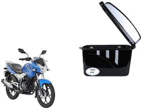 Bajaj New Discover 125 Dua Trendy Black Silver Side Box Extra Luggage Box