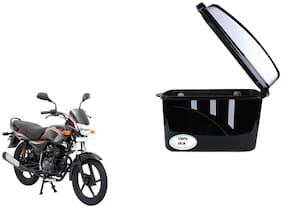 Bajaj Platina 125 Dua Trendy Black Silver Side Box Extra Luggage Box