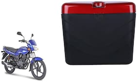 Bajaj Platina Dua Polo Matt Black Red Side Box Extra Luggage Box