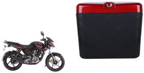 Bajaj Pulsar 135 LS DTS Dua Polo Matt Black Red Side Box Extra Luggage Box