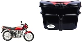 Bajaj Wind 125 Vivo Black Red Side Box Extra Luggage Box to Cary Extra Luggage for Bikes