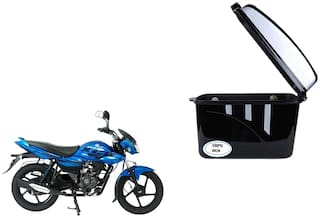 Bajaj XCD 125 Dua Trendy Black Silver Side Box Extra Luggage Box