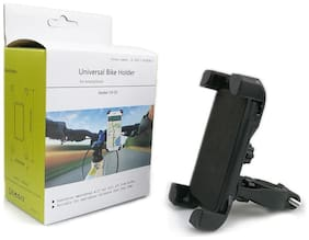Battlestar Bike Holder 360 deg Universal Rotating Bicycle Holder Motorcycle Cell Phone Cradle Mount Holder Mobile Phones (Black)