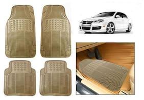 True Vision Car Floor Mat Rubber Car Foot Mats Beige For Volkswagen Jetta