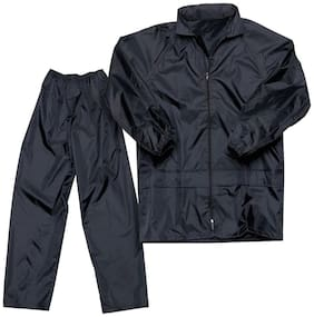 Benjoy 100% WATERPROOF (BLACK,) RAIN SUIT WITH HOOD & CARRY BAG FOR BIKERS