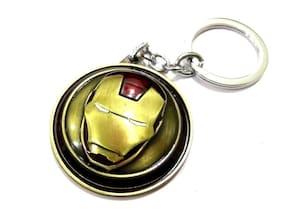 BESTM 1-GADGET Metal Iron Man Marvel Spinner Key Chain Gold