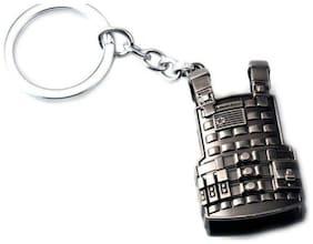 BESTM 1-GADGET Truom PUBG Military jacket Shape Metal Keychain Black Color