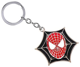 BESTM 1-GADGET Rotating Spiderman Face Spinning Superhero Metal Keychain