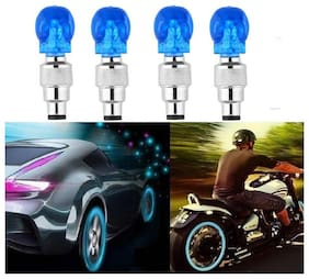 BG Bazzar Gali 4 pcs. SKULL SHAPED MOTION SENSOR TYRE LED LIGHT LED Wheel Reflectors ( Blue )