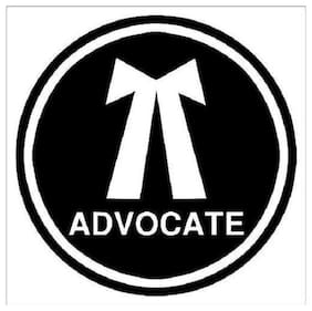 Bhagatshop Advocate Sticker (Pack of2)
