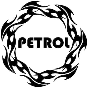 Bhagatshop (Discounted Pack of 2) Petrol Sticker Fuel Reminder Decals Size (11.5 Cm. X 11.5 Cm.)