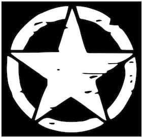Bhagatshop Star Decal Sticker For Royal Enfield Bullet/Bike Sticker;(11.5 Cm X 11.5 Cm);( pack of 2 );White