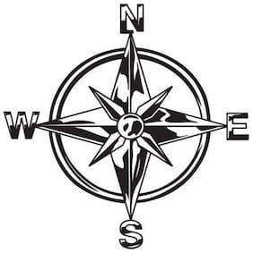 Bhagatshop Tribal Compass Rose Nautical Star Windows;Sides;Hood;Bumper Car Sticker (Black)