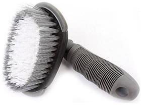 Bigwheels Automobiles Wheel Tire Rim Washing Scrubbing Brush For Removing Dust/Mud/Snow Of Car Truck Motorcycle Bike Tires Cleaning Tool Plastic Wet and Dry Brush