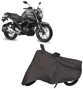 Bigwheels Premium Quality Grey Matty Two Wheeler Bike Body Cover For Yamaha Fz S V3.0 Fi With Mirror Pockets