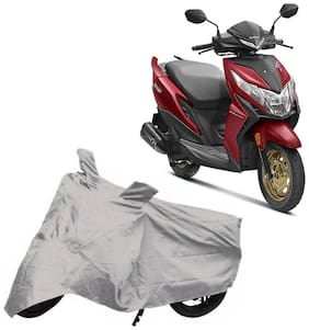 Bigwheels Premium Quality Silver Matty Two Wheeler Scooter Scooty Body Cover For Honda Dio Bs6 With Mirror Pockets
