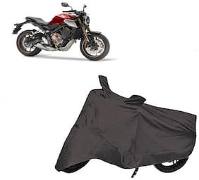 Bigwheels Premium Quality Grey Matty Two Wheeler Bike Body Cover For Honda Cb650R With Mirror Pockets
