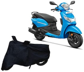Bigwheels Premium Quality Black Matty Two Wheeler Scooter Scooty Body Cover For Hero Pleasure Plus With Mirror Pockets