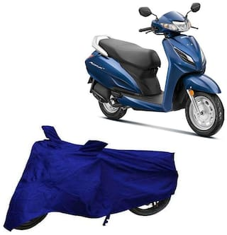 Bigwheels Premium Quality Blue Matty Two Wheeler Scooter Scooty Body Cover For Honda Activa 6G With Mirror Pockets