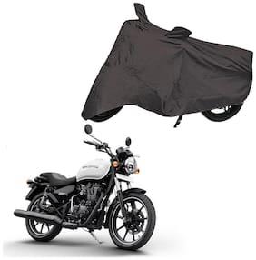 Bigwheels Premium Quality Grey Matty Two Wheeler Bike Body Cover For Royal Enfield Bullet Thunderbird 350X With Mirror Pockets