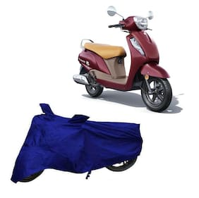 Bigwheels Premium Quality Blue Matty Two Wheeler Scooter Scooty Body Cover For Suzuki Access 125 Bs6 With Mirror Pockets