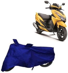 Bigwheels Premium Quality Blue Matty Two Wheeler Scooter Scooty Body Cover For Honda Grazia 125 Bs6 With Mirror Pockets