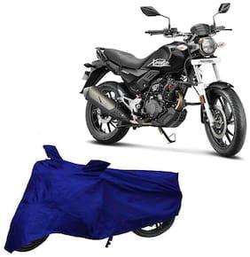 Bigwheels Premium Quality Blue Matty Two Wheeler Bike Body Cover For Hero Xpulse 200T With Mirror Pockets