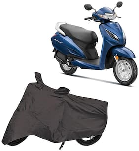Bigwheels Premium Quality Grey Matty Two Wheeler Scooty Scooter Body Cover For Honda Activa 6G With Miror Pockets